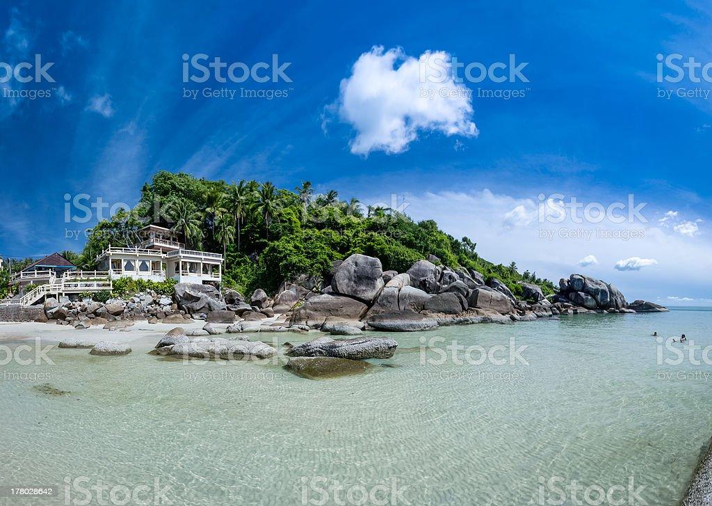 tropical resort ko samui beach panorama thailand stock photo