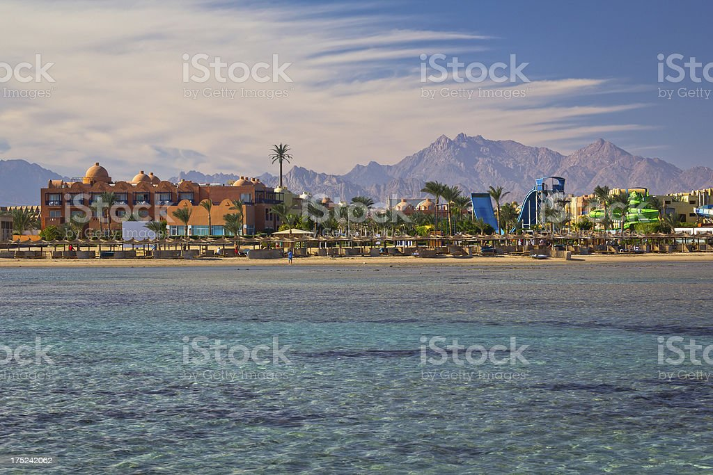 Tropical resort on the red sea stock photo