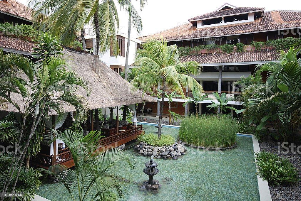 Tropical resort(Bali) stock photo