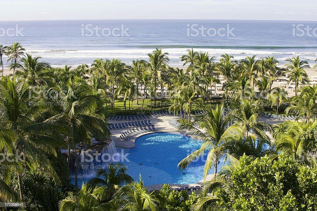 Complejo turístico tropical - foto de stock