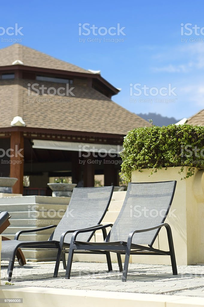tropical resort royalty-free stock photo