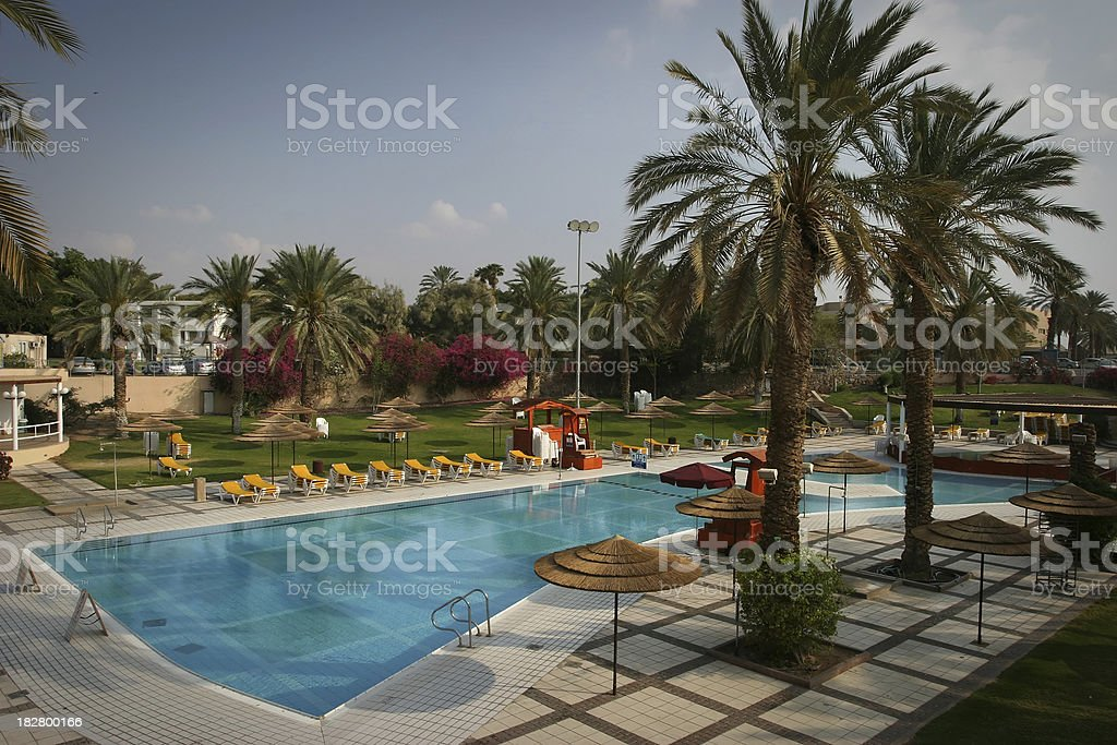 Tropical Resort Pool royalty-free stock photo