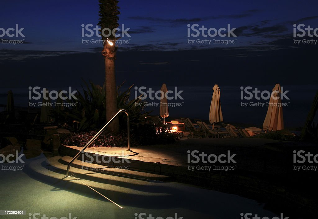 Tropical Resort Poolside royalty-free stock photo
