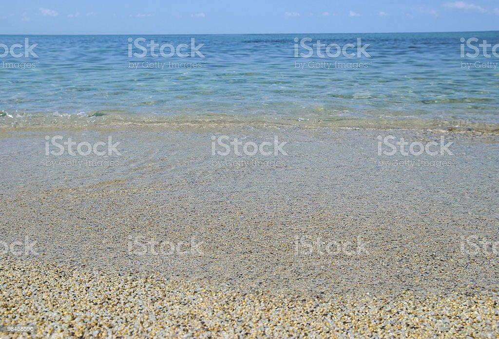Spiaggia di sabbia tropicale foto stock royalty-free