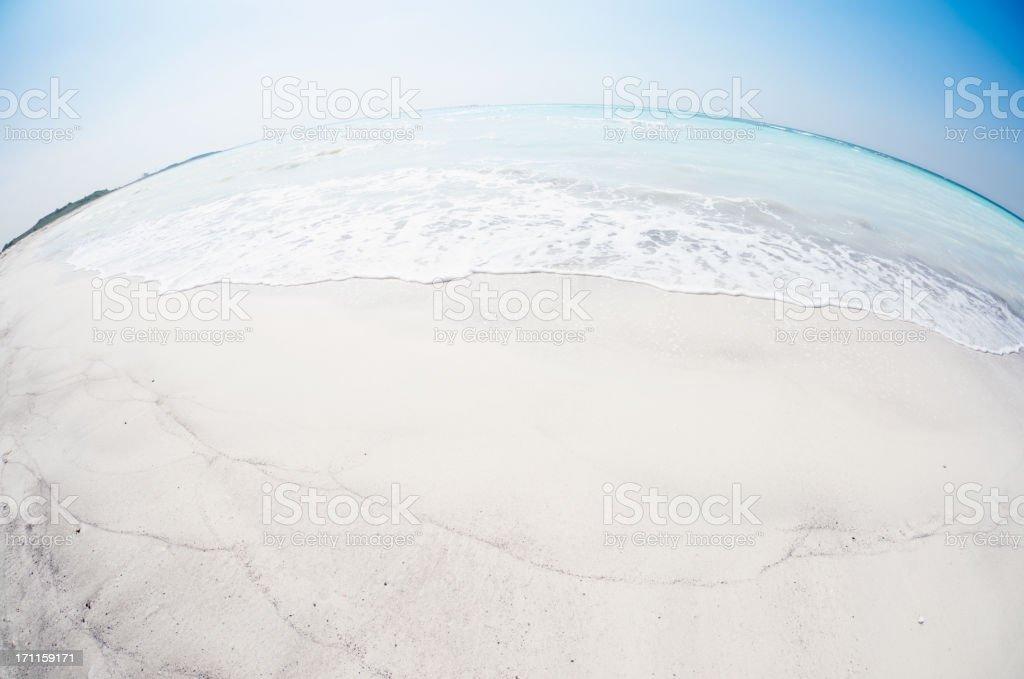 Tropical sand summer Beach landscape royalty-free stock photo