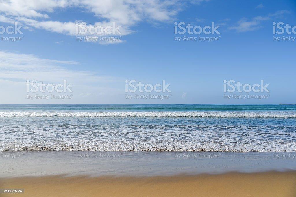 Tropical sea, beach and blue sky foto royalty-free