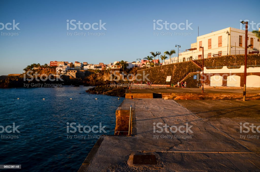 Tropical Sea Village playa san juan royalty-free stock photo