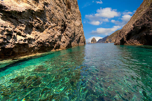 tropical sea with blue sky stock photo