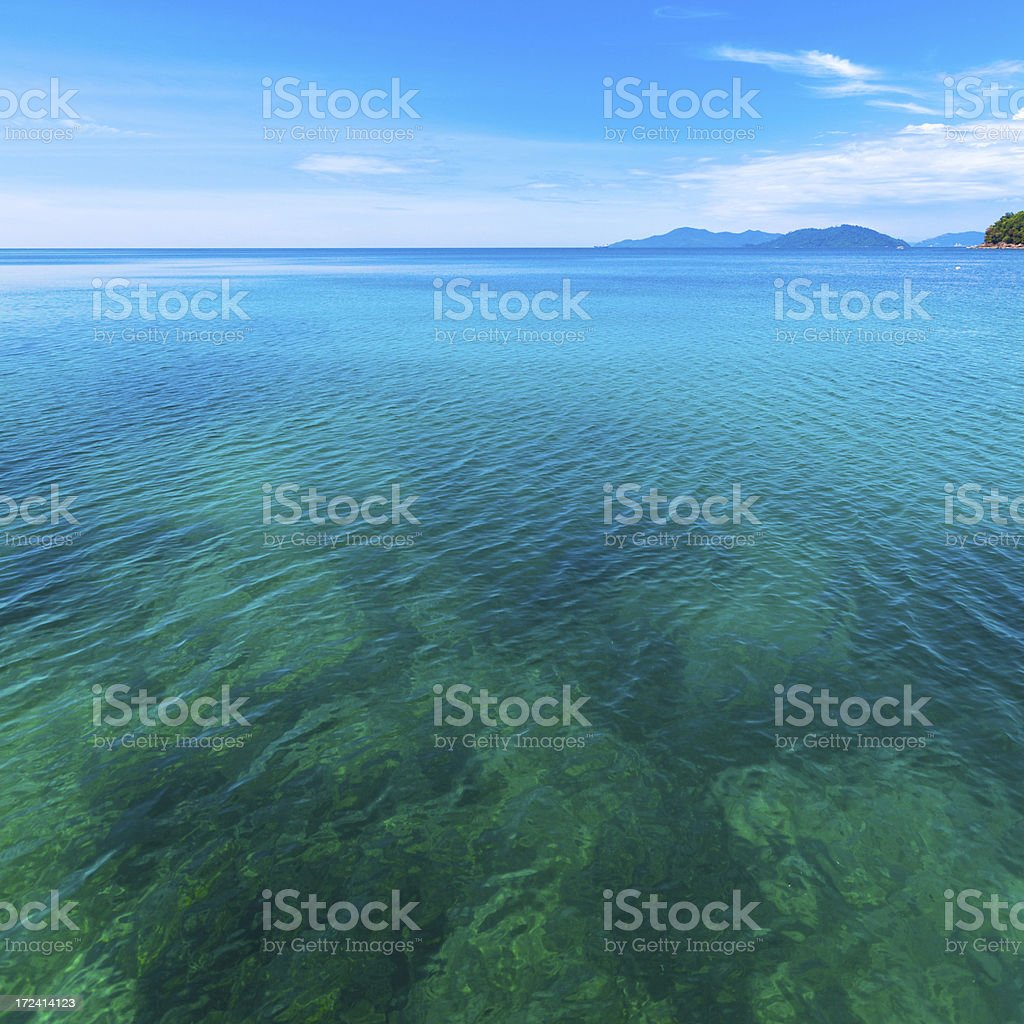 Tropical Seascape and Islands royalty-free stock photo