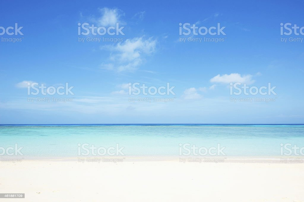 tropical seascape stock photo