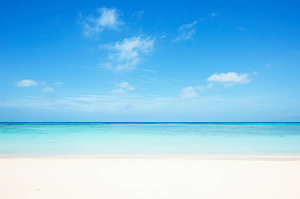 tropical seascape - clear sky stock pictures, royalty-free photos & images