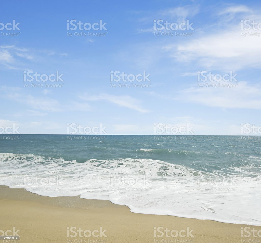 tropical seascape royalty-free stock photo