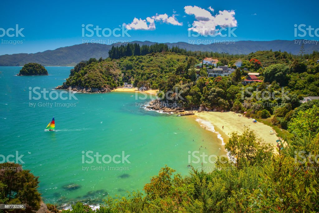 Tropical secluded Bay with Beach stock photo