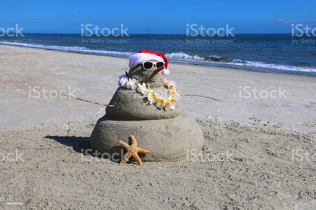 Tropical Snowman stock photo