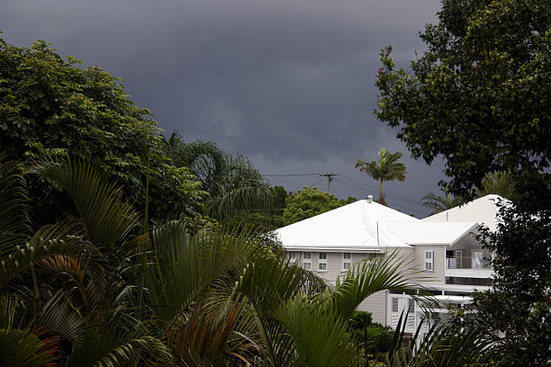 Tropical Storm Approaching stock photo