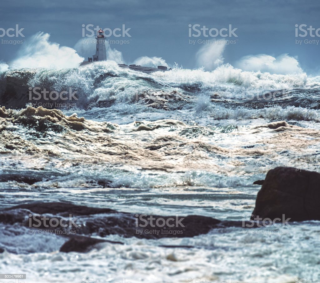 Tropical Storm Arthur stock photo
