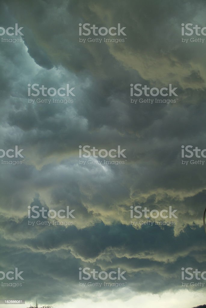 tropical  storm clods royalty-free stock photo