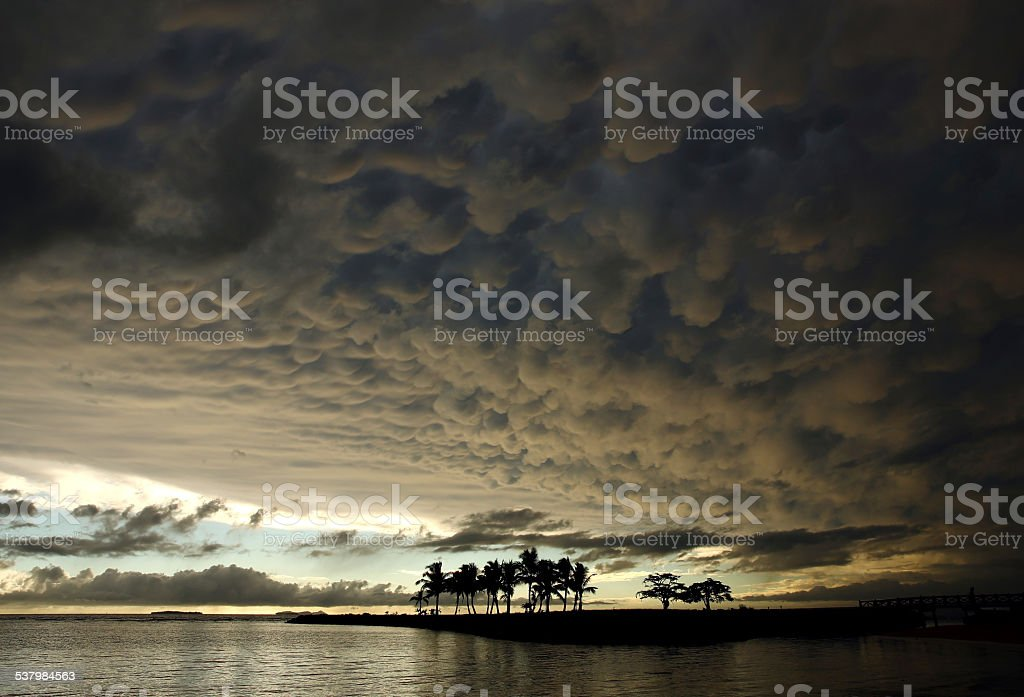 Tropical Storm Clouds stock photo