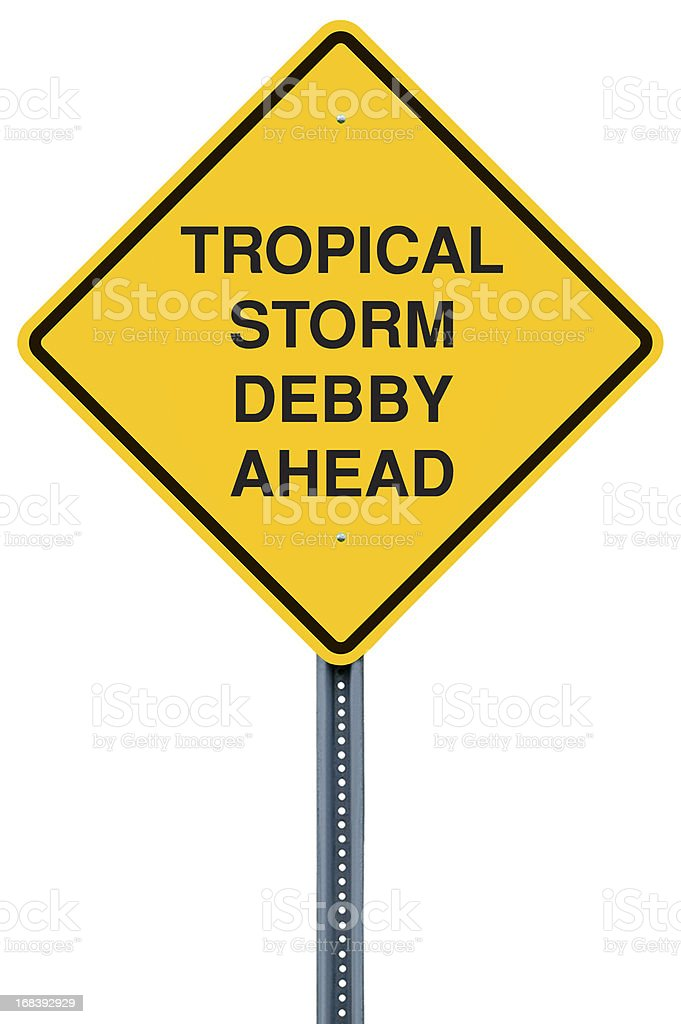 Tropical Storm Warning Sign royalty-free stock photo