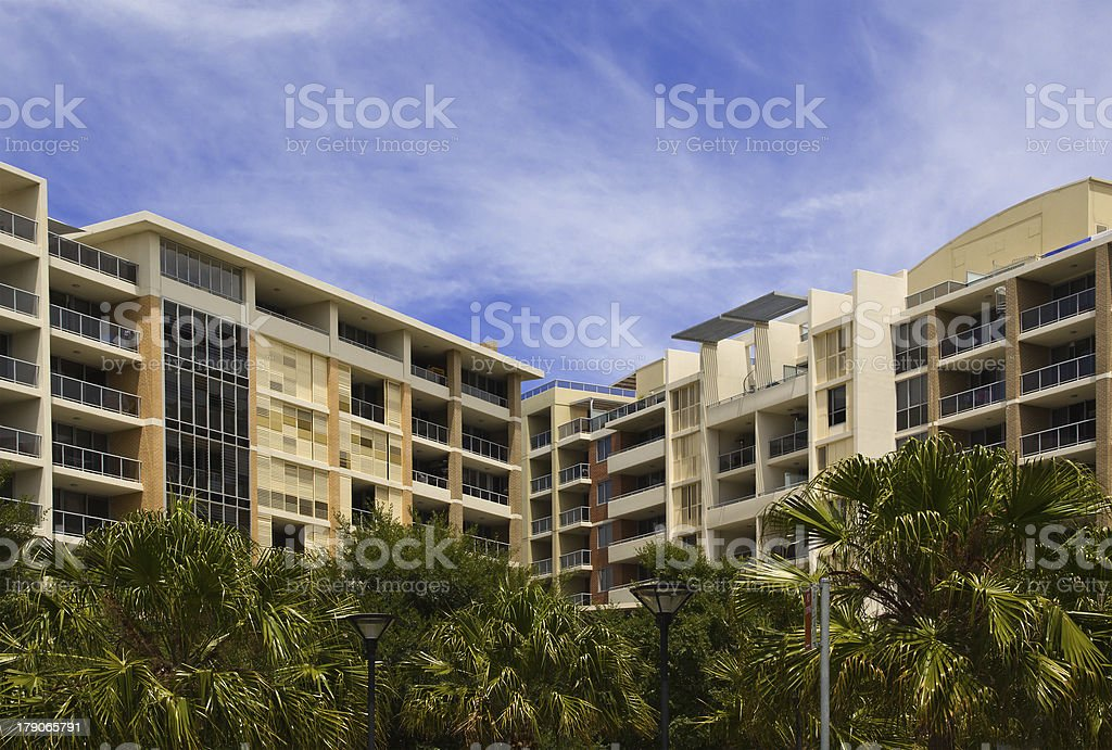 Tropical style apartments royalty-free stock photo