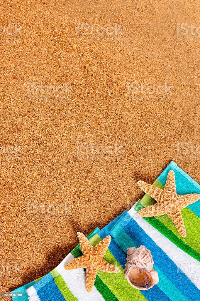 Tropical summer beach background stock photo