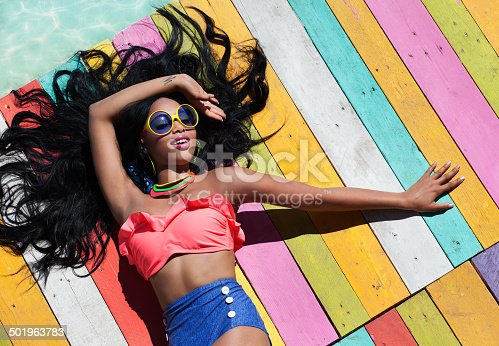 istock Tropical summer holiday fashion concept 501963783