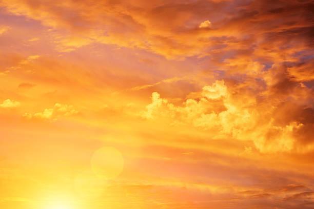 Tropical sunset. stock photo
