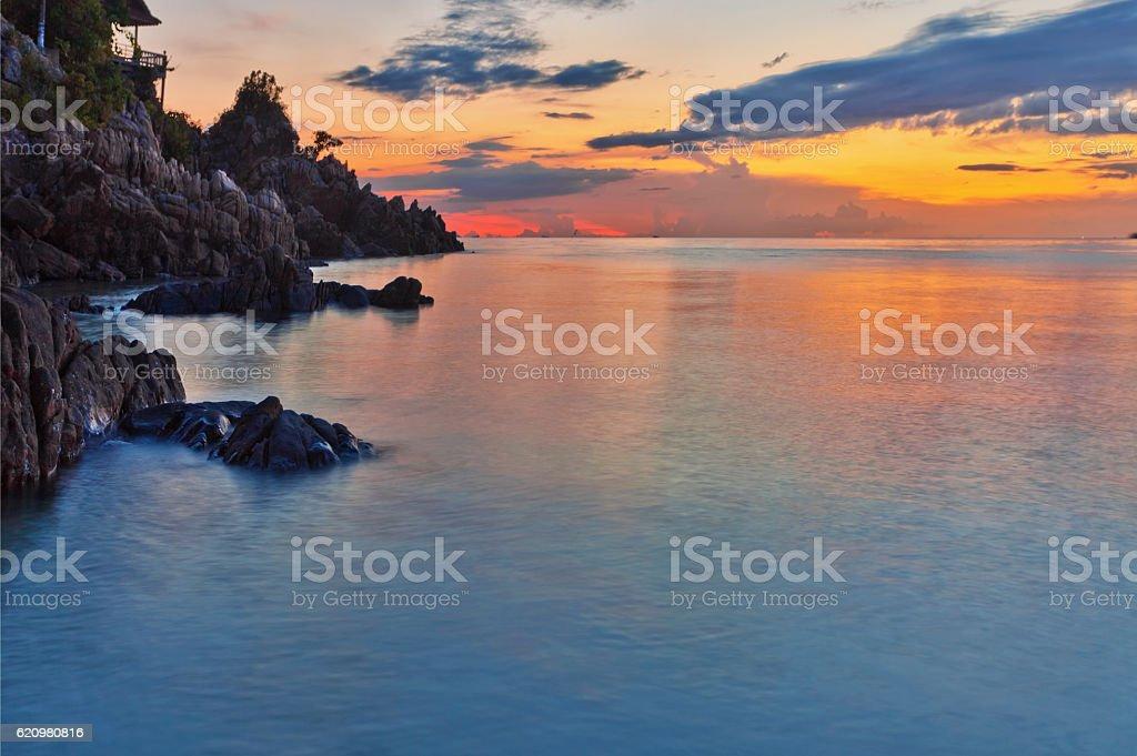 Pôr do sol Tropical.   foto royalty-free