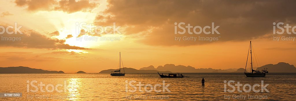 Tropical Sunset royalty-free stock photo