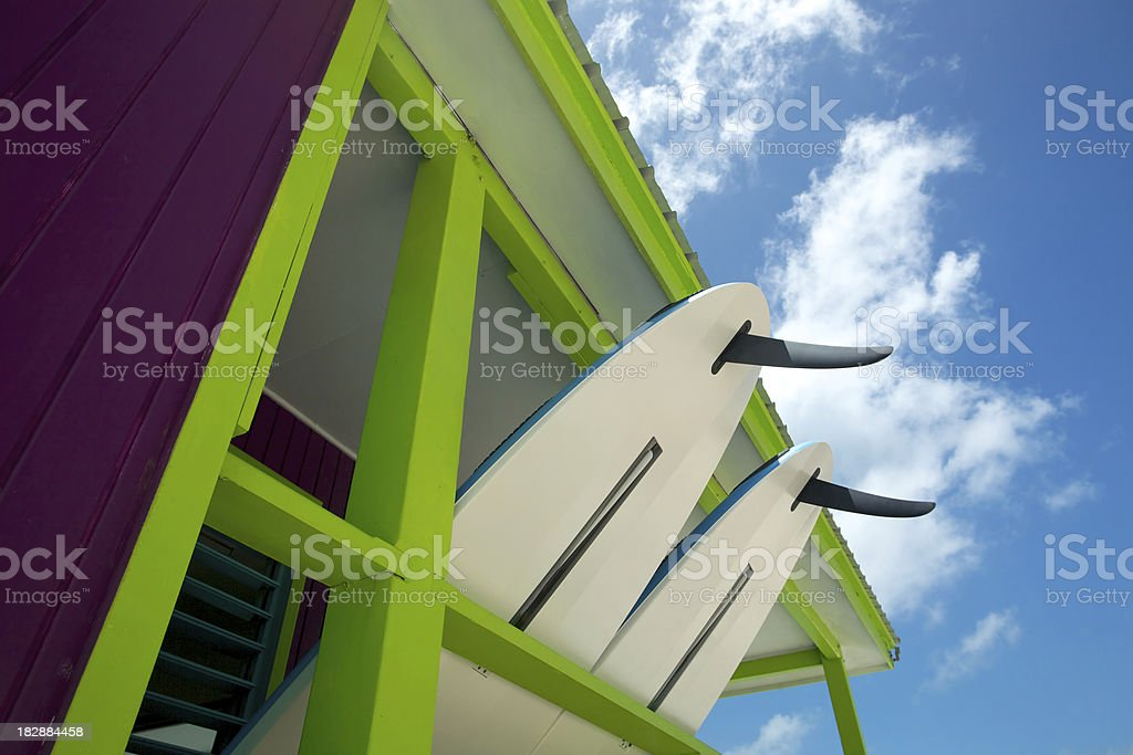 tropical surf shack royalty-free stock photo