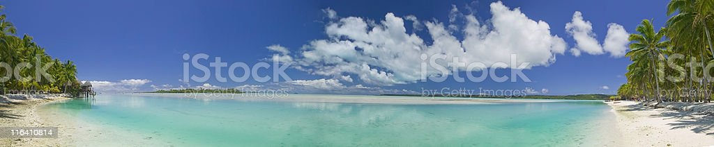 Tropical Tahitian Dream Paradise Panoramic royalty-free stock photo
