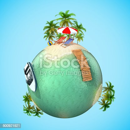 500536143istockphoto tropical travel vacation 3d planet 500921521