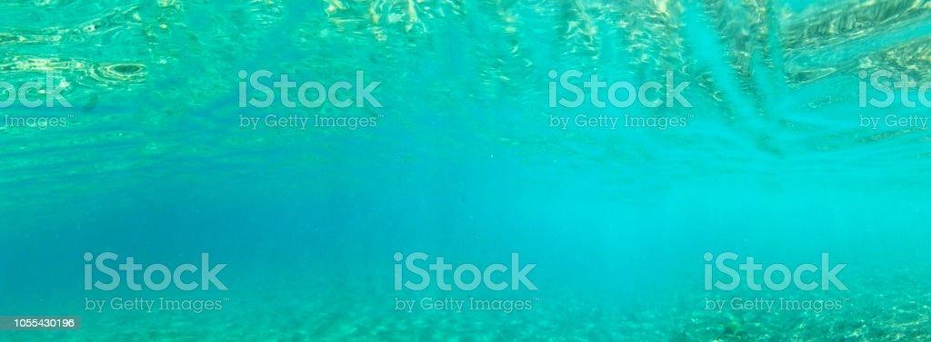 Tropischen Unterwasser Panorama banner – Foto