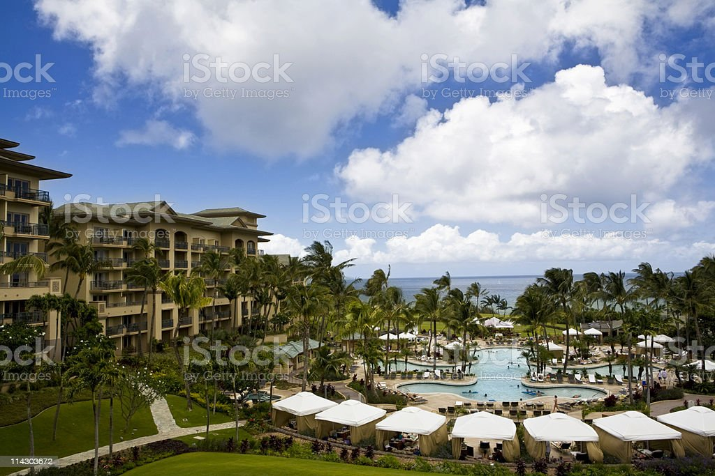 Tropical Vacation Resort stock photo
