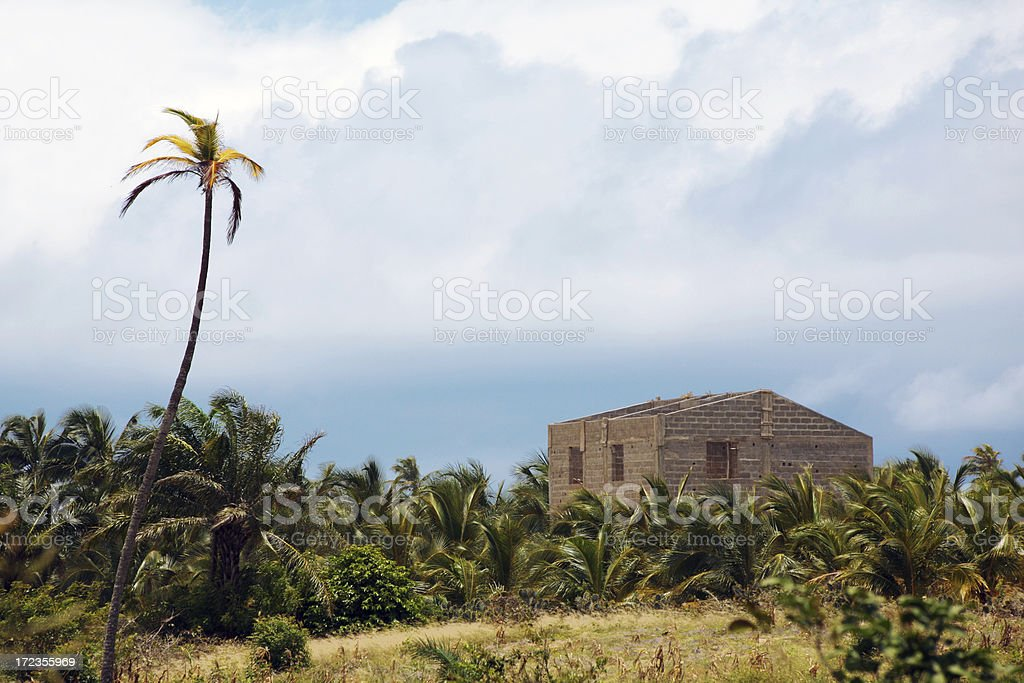tropical villa in building progress royalty-free stock photo