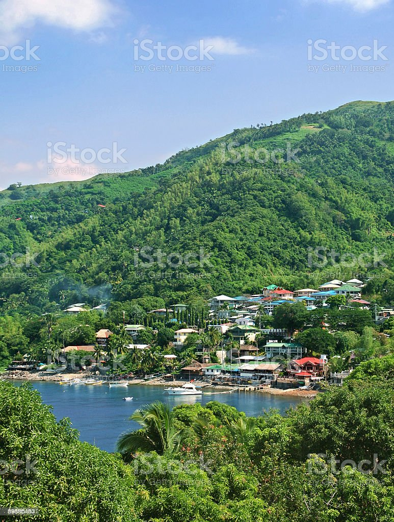 Tropical village royalty-free stock photo