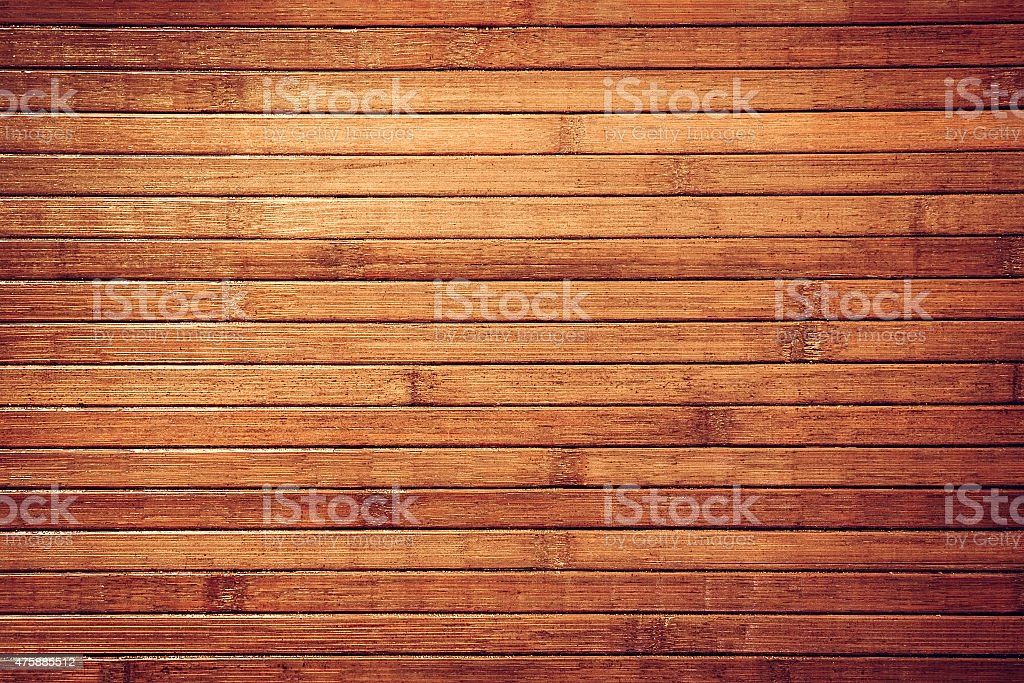 Tropical vintage bamboo wall stock photo