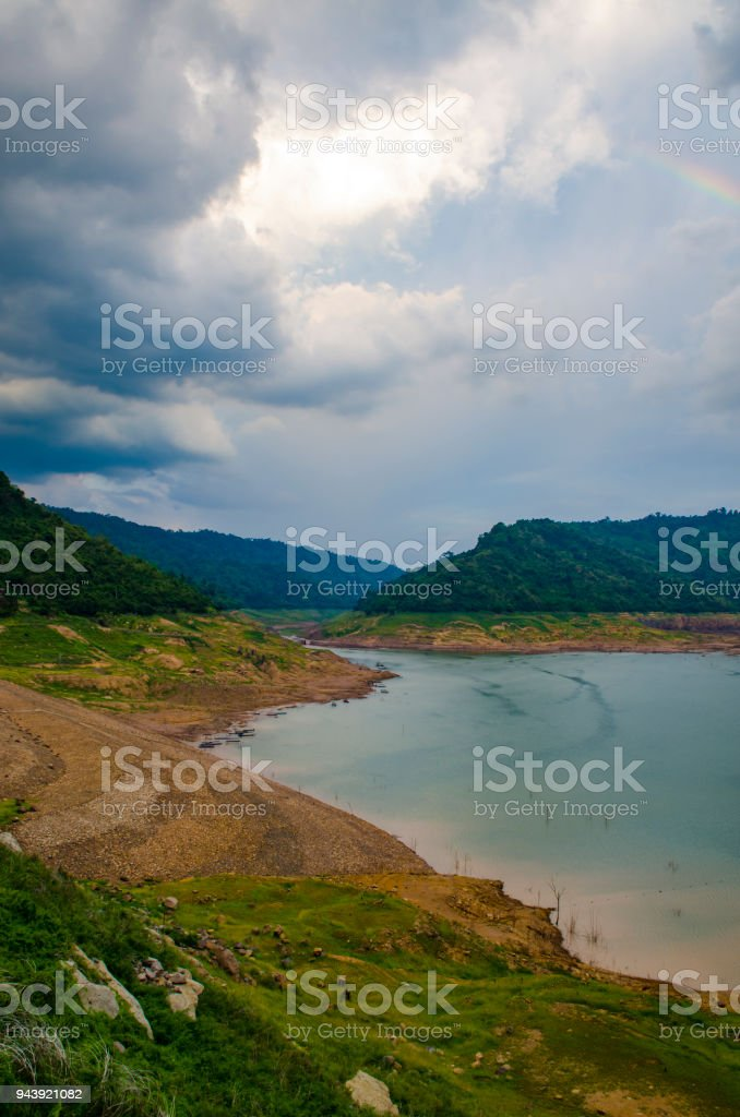 tropical water lake in Thailand stock photo