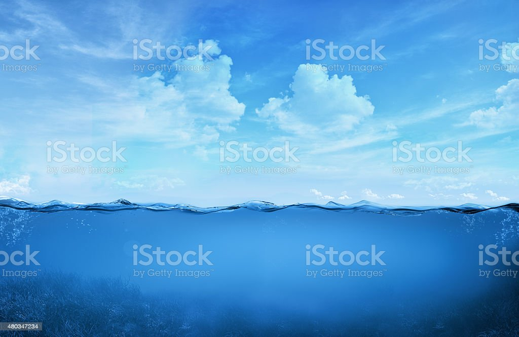 tropical water stock photo