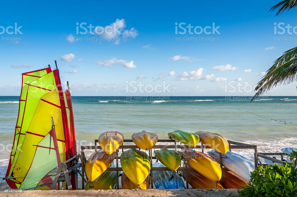 Tropical Water Sports stock photo