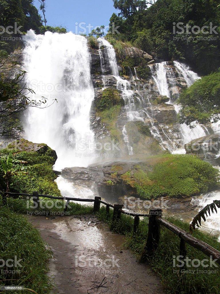 Tropical waterfall, Chiangmai, Thailand royalty-free stock photo
