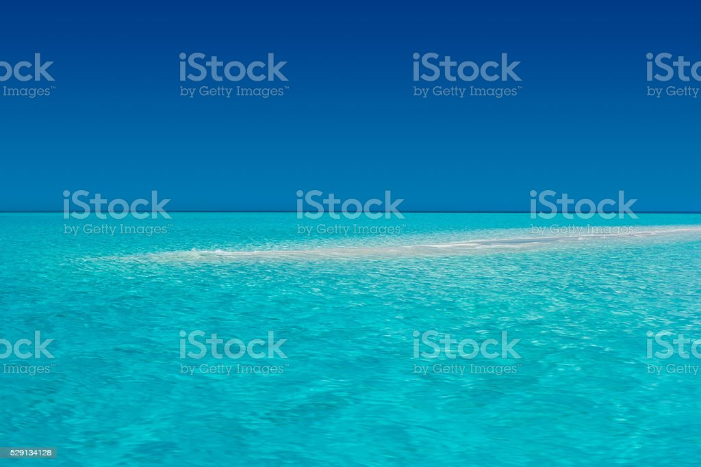 Tropical Waters with Clear Sky stock photo