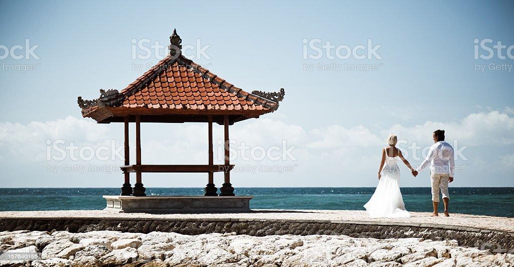 tropical wedding royalty-free stock photo