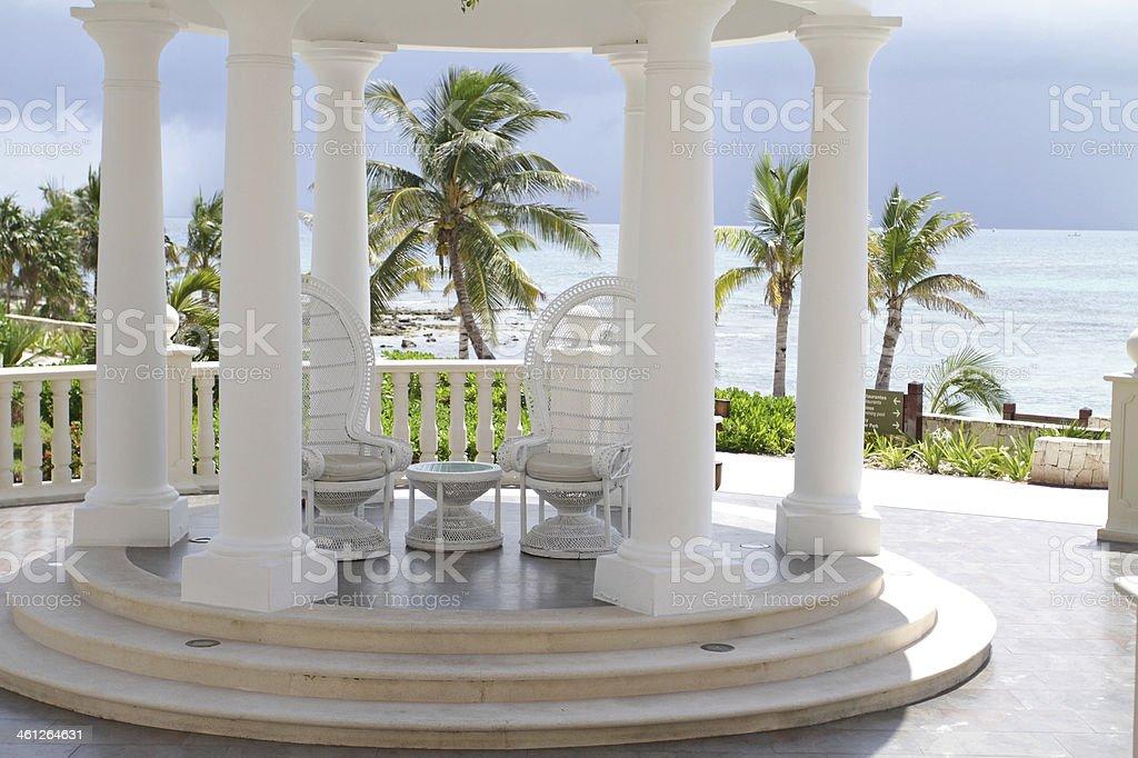 Tropical Wedding Setting stock photo