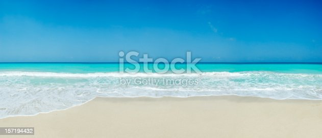 Waves and turquoise waters of a small Tropical island beach. Relaxing, travel and leisure related images for vacations in the Caribbean. Image taken at Morrocoy National Park, Venezuela. Morrocoy is a coastline and a group of small islands and cays located at Falcon State in Venezuela. A very popular destination for leisure, diving, kite surfing and all kind of water activities. Morrocoy and the beauty of the turquoise coastal beaches of Venezuela are almost indistinguishable from those of the Bahamas, Fiji, Bora Bora, French Polynesia, Malau, Hawaii, Cancun, Costa Rica, Florida, Maldives, Cuba, Puerto Rico, Honduras, or other tropical areas.