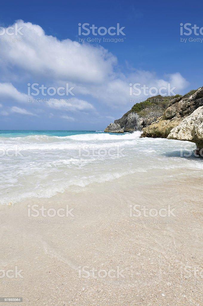 Tropical white sand beach royalty-free stock photo