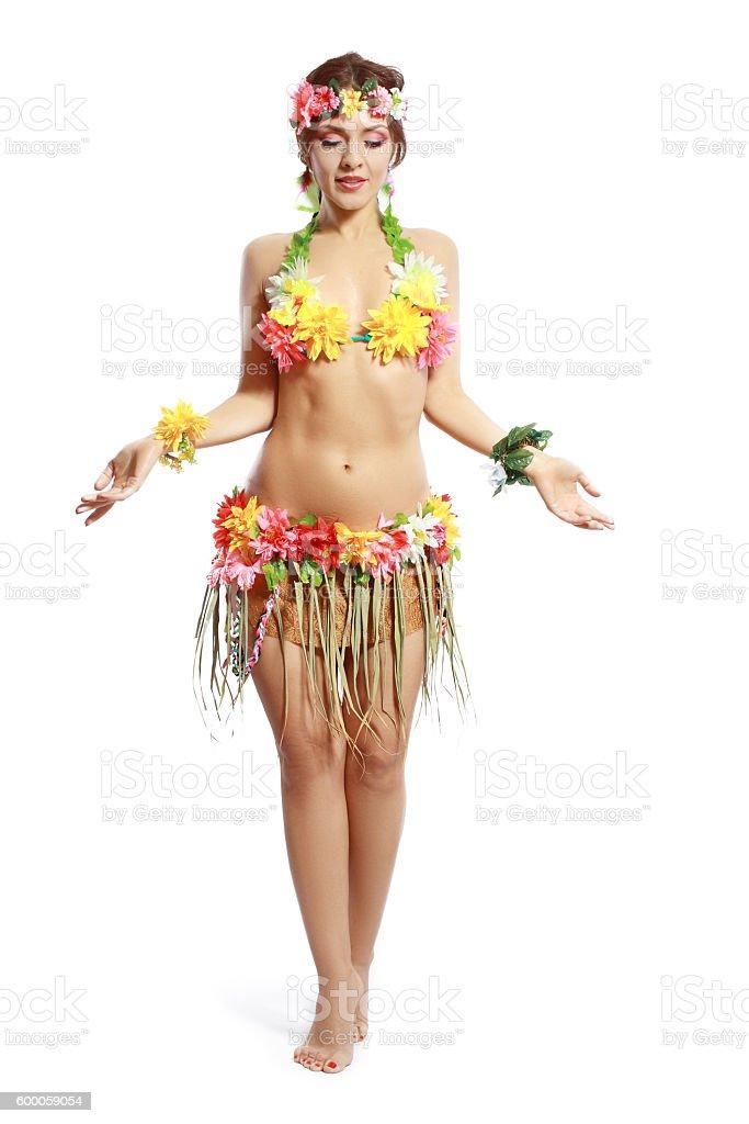 tropical woman stock photo