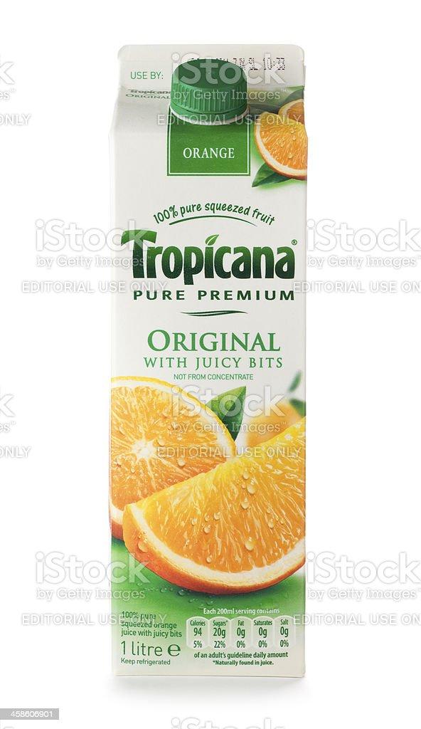 ad5b433027 Suco de laranja Tropicana original Embalagem cartonada de liquídos foto  royalty-free