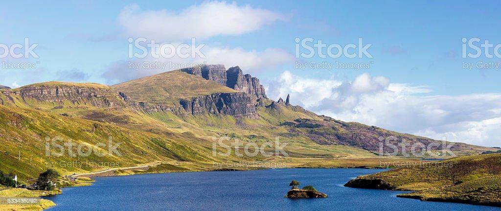 Trotternish ridge on Isle of Skye Scotland stock photo