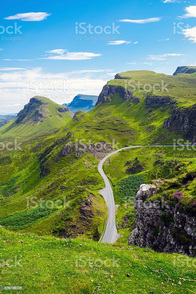 Trotternish Ridge on the Isle of Skye, Scotland stock photo